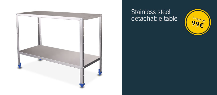 Stainless steel detachable table